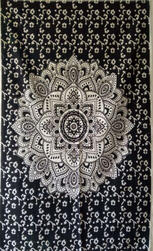 White Cotton Textile Throw Small Tapestry Poster Wall Hanging Home Decor Hippie