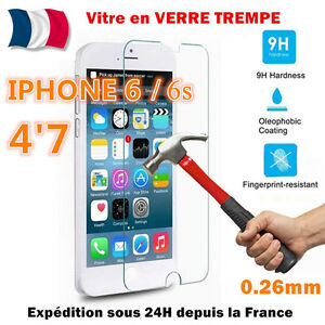 VITRE-PROTECTION-en-VERRE-TREMPE-Film-protecteur-d-039-ecran-iPhone-6-6s-4-7