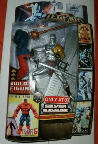 Nouveau Marvel Legends Silver Savage TARGET EXCLUSIVE RED HULK BAF 2007 Comme neuf on Card