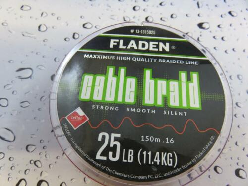 FLADEN 150m FISHING BRAID 25lb RED 0.16 Teflon Coated Braided line for Reel