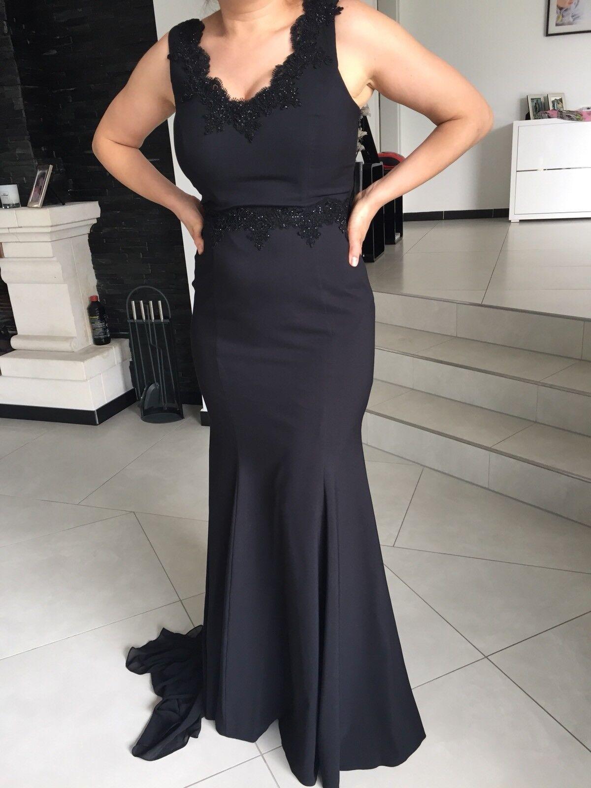2f996a0d4ad Hondrocream ist die Schnellste Abendkleid ballkleid Abiball Kleid Lang  butik Dayi Gr. 36 38 Schwarz Schleppe 2faf27