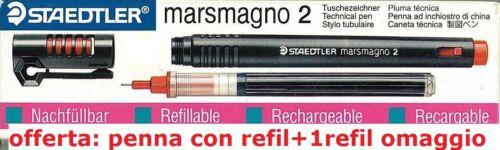 refil in omaggio Penna Staedtler Marsmagno 2 ad inchiostro di china