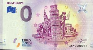 BILLET 0 EURO MINI EUROPE BELGIQUE  .2018-2 TOUT PETIT NUMERO 18