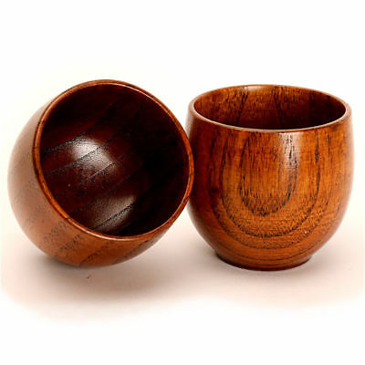 Juice Wooden Cup Milk Water Traditional Small Coffee Tea Beer Retro Drinking