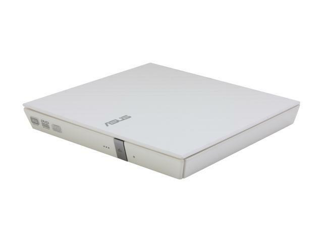 ASUS USB 2.0 White External Slim CD / DVD Re-Writer Mac OS Compatible Model SDRW
