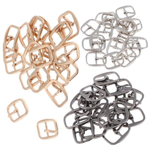 20pcs//PACK MINI Boucles Art Crafts pour chaussure ceinture couture poupée À faire soi-même Accessoires