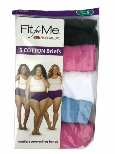 Fruit Of The Loom Fit For Me Womens 5 Cotton Briefs Plus Size 12 Red 26w 28w For Sale Online Ebay Cotton spandex blend for enhanced comfort. ebay