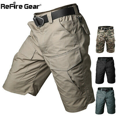 ReFire Gear Camo Outdoor Hunting Cargo Shorts Men Military Tactical Work Pants