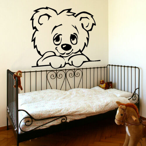 LARGE NURSERY BABY TEDDY BEAR WALL MURAL GIANT TRANSFER ART STICKER POSTER DECAL
