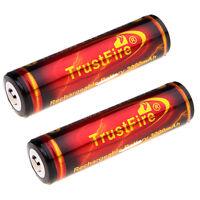 2x TrustFire 18650 3.7V 3000mAh High Drain Battery Rechargeable Li-ion Batteries