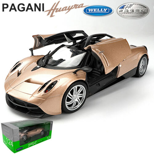 Pagani Huayra Gold SuperSports Car Model 1//24 Scale Alloy Metal Collection Welly