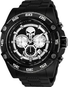 Invicta-26862-Marvel-Punisher-Men-039-s-52mm-Chronograph-Black-Tone-Steel-Watch