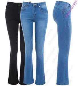 comprar popular a9b1c e0cfd Detalles acerca de Mujer Slim Fit Jean Flare Denim Acampanados Bootcut  Talla 10 12 14 6 8 Nuevo- mostrar título original