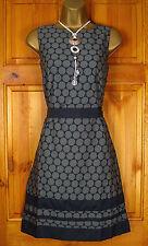 ladies MONSOON Grey vintage style summer shift dress uk size 8