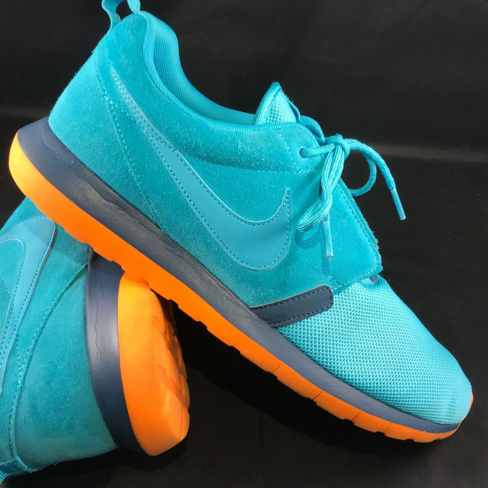 MEN'S NIKE ROSHE RUN NM SHOES SIZE 11 US 45 EUR dusty cactus bluee 631749 301