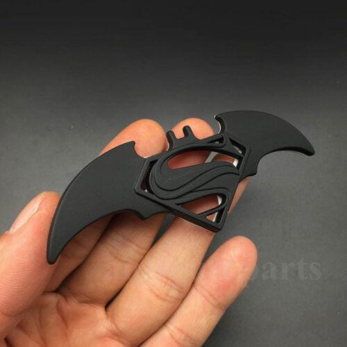 4x Black Metal Batman Vs Superman Logo Dawn of Justice Emblem Car Badge Sticker