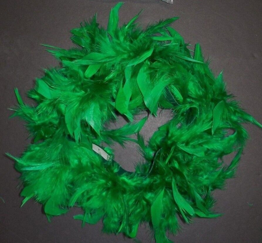 "NWT Feather Tutu Dark Kelly Green Chandelle Boa Skirt 2/"" elastic waist dance"