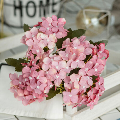 09B2 Wedding Bouquet Floral Decor Silk Fake Flowers Romantic Kitchen