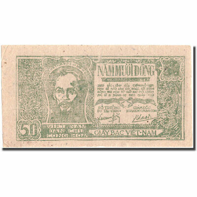 40-45 Ef 50 Dng Banknote #215491 Undated Vietnam Km:27c 1948-1949 Rich In Poetic And Pictorial Splendor