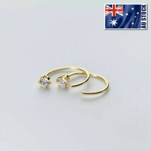 925-Sterling-Silver-Helix-Tragus-Ring-Sleeper-Earrings-Ear-Nose-Body-Piercing