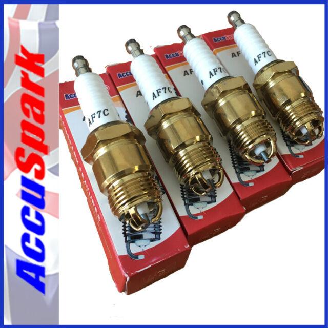 AccuSpark Triple Ground Copper Spark Plugs AF7C, F7YC,AP6FS -PINTO ENGINE x4