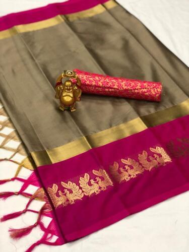 Indian Pakistani New Bollywood Saree Blouse Sari Wedding Wear Ethnic Designer