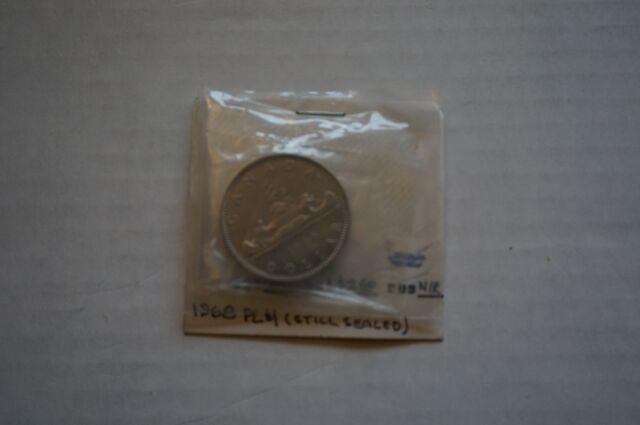 A-6 1968 Nickel Dollar $1 Sealed in original plastic RCM uncirculated Canada PL