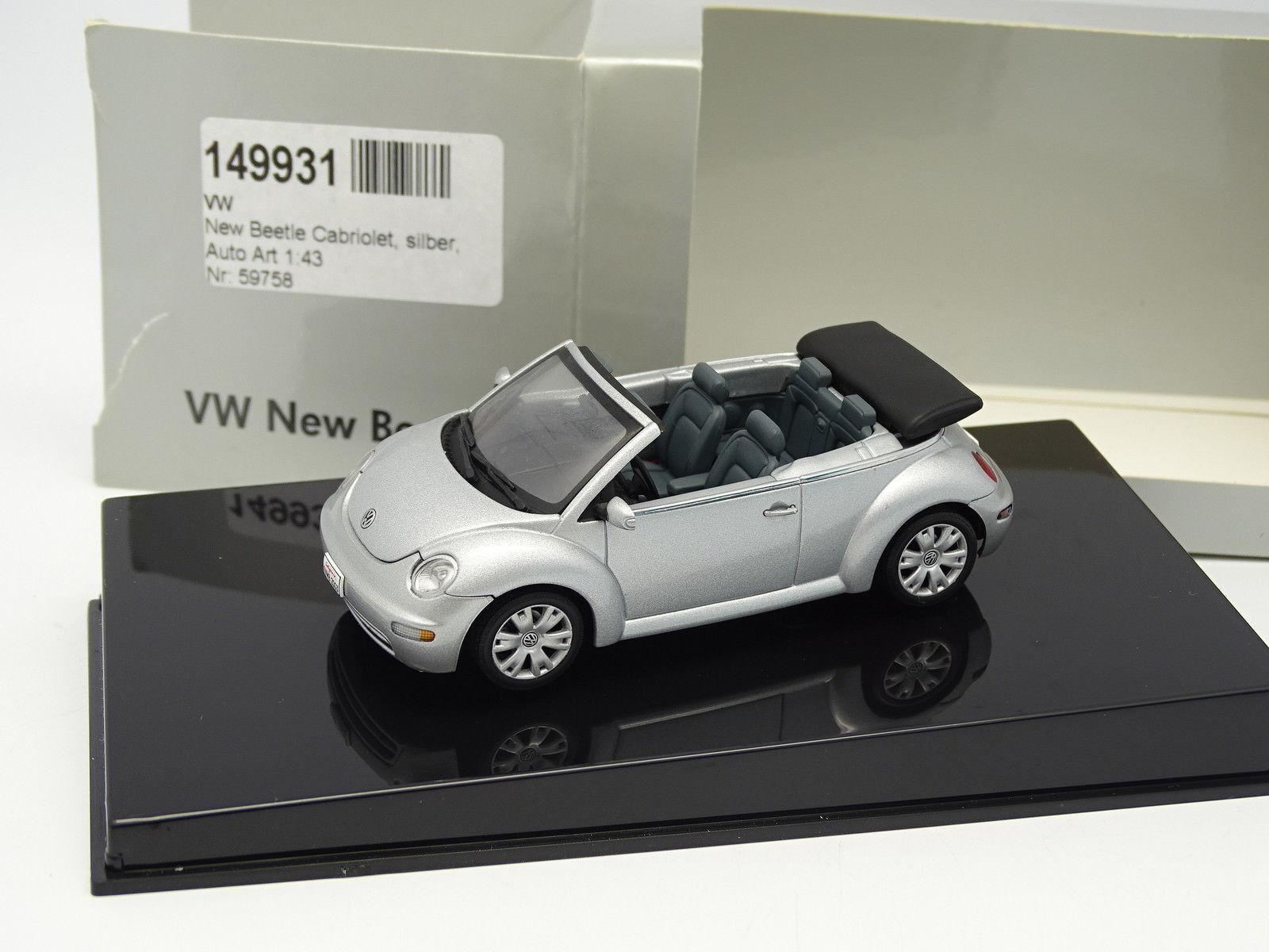 entrega de rayos Auto Auto Auto Art 1 43- VW Beetle Cabriolet plata  barato y de alta calidad