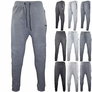 purchase genuine compare price exquisite design Details about Mens Joggers Jogging Bottom Fleece Skinny Slim Fit Trouser  Gym Pants Zip Pockets