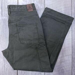 prAna-Breathe-Bronson-Outdoor-Pants-Mens-32x27-Green-Organic-Mid-Straight-J819