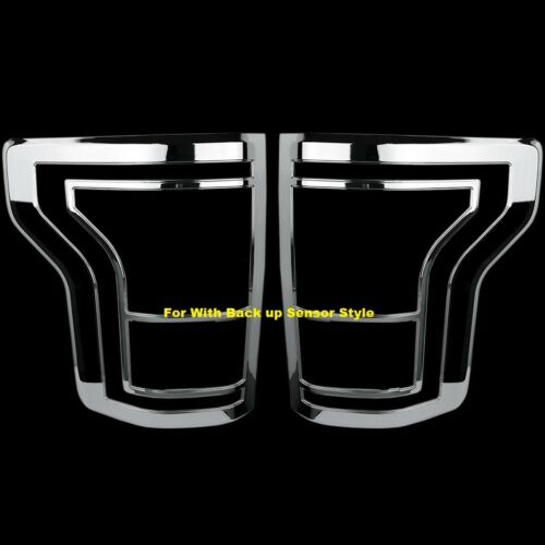 For Ford F-150 F150 15~16 Chrome Tail Light taillight Bezel covers With sensor