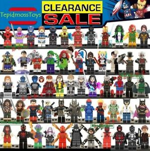 Lego Superhero Single Mini Figures MiniFigs Super Heroes Minifigures Custom