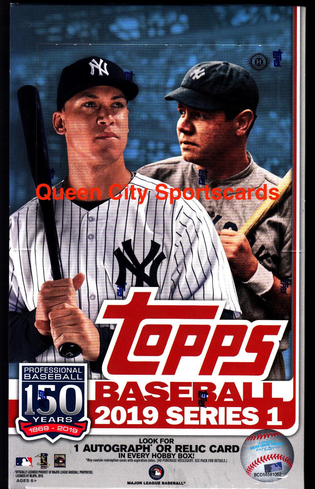 2019  Topps serie 1 béisbol Fábrica Sellada Hobby Caja  autorización oficial