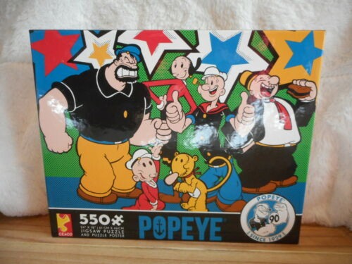 CEACO POPEYE /& FRIENDS 90th ANNIVERSARY 550 PIECE JIGSAW PUZZLE NEW