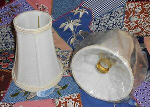 Chandelier Candelabra Fabric Lamp Shade In Cream Ivory W