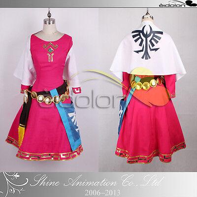 EE0079AC The Legend of Zelda Princess Zelda Childhood Cosplay Costume