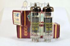 2 x EL-84 EL84 6BQ5  RFT FUNKWERK TUBES! NOS!  RARE! 100% TESTED! LOOK! BOXED