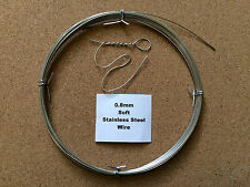 0.8mm x 10m 21SWG SOFT Stainless Steel Wire Locking Craft Safety Tying Sculpting