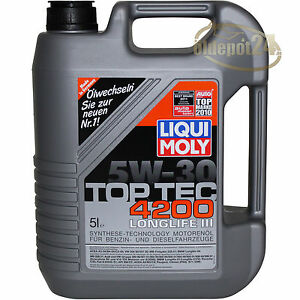 liqui moly top tec 4200 longlife iii 5w 30 5 liter vw. Black Bedroom Furniture Sets. Home Design Ideas