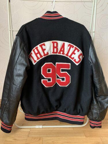 HOLLOWAY VARSITY 90s VTG Jacket Letterman Leather