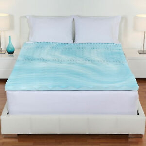 Cool-Gel-Memory-Foam-Mattress-Topper-5-Zones-Orthopedic-Pad-3-034-Inch-Queen-Size