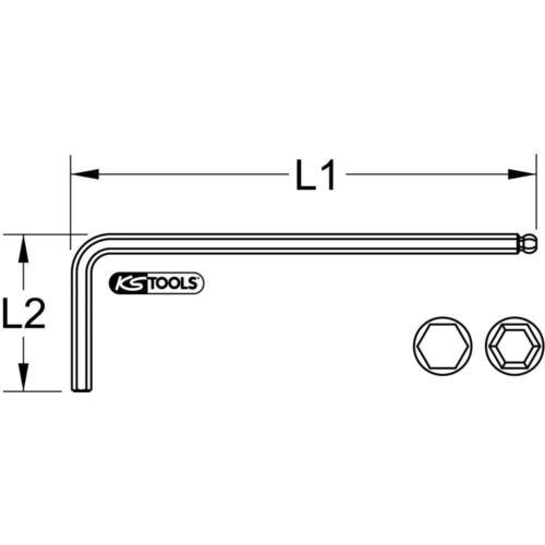 lang Ks/_Tools Innensechskant-Winkelstiftschlüssel 7mm 151 151.2907