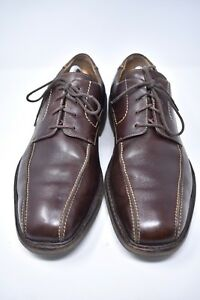 MEPHISTO AIR-RELAX BROWN LEATHER OXFORDS MENS 10 DRESS CASUAL SHOES BICYCLE TOE
