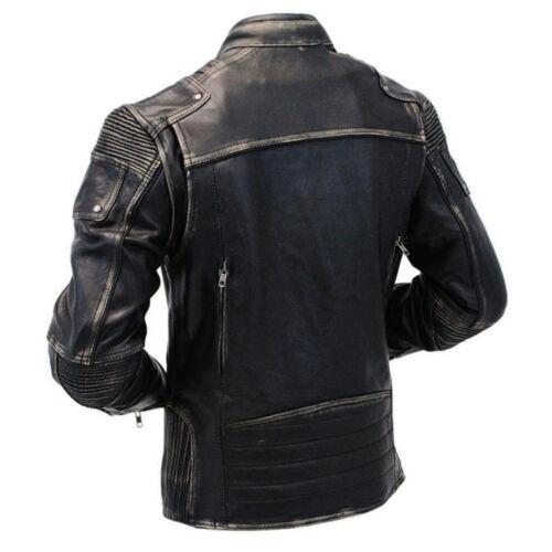 invecchiata motociclista Stile motociclista da motociclista pelle uomo stile in da vintage q8Cr8d