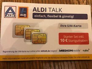 aldi sim karte ALDI TALK Starter Set (inkl. Triple SIM Karte) mit 10
