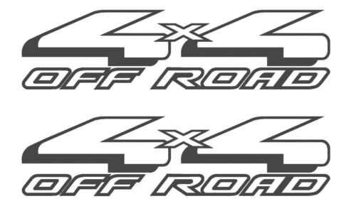 SET OF 2 4X4 OFF ROAD VINYL DECALS STICKER FORD F-150 TRUCK BED PLUS GRAY
