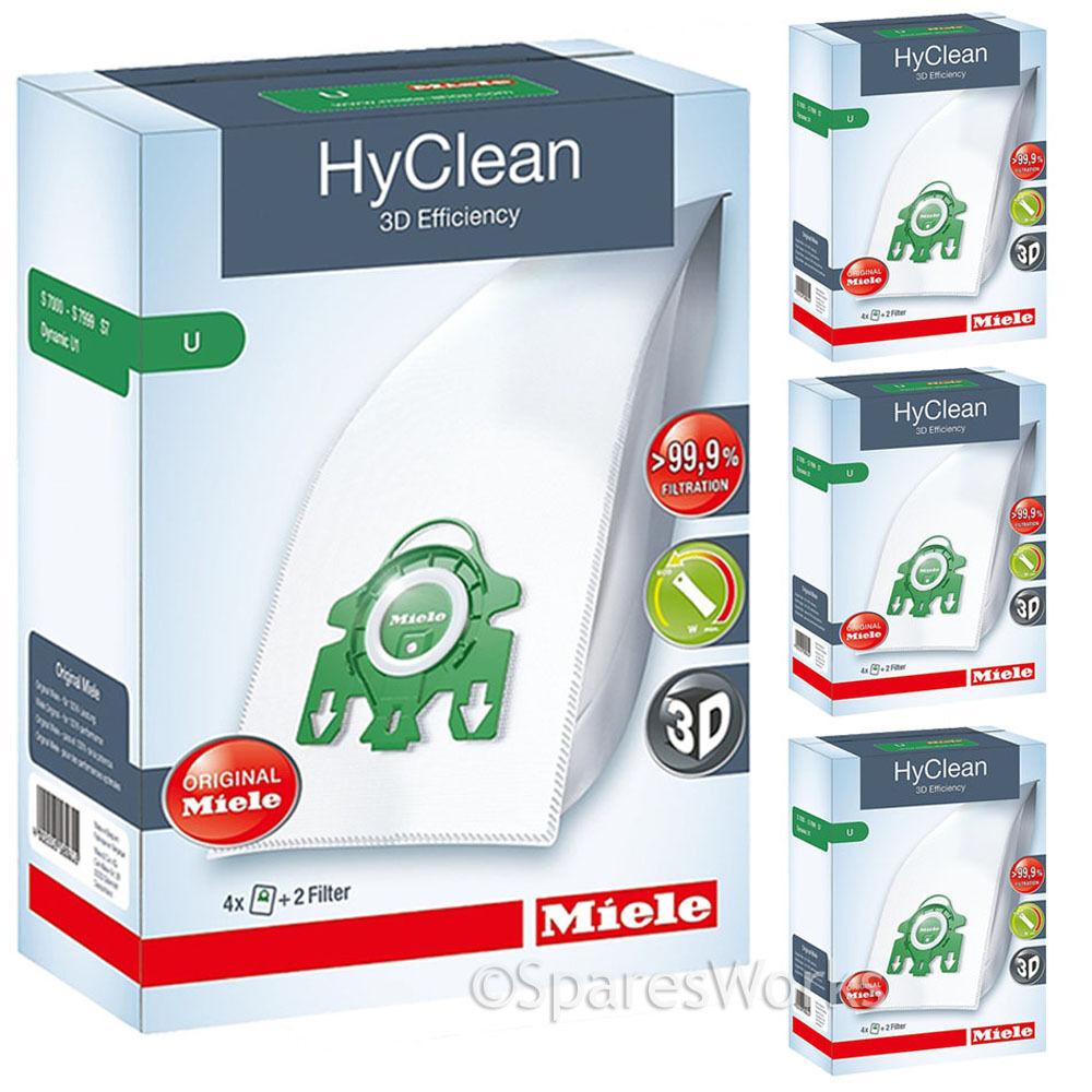 16 x Genuine Miele S7 U1 Type U 3D HyClean Vacuum Hoover Bags & Filter Kit