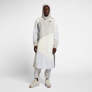 Nike-Herren-Nsw-Taped-Woven-Jacket-034-Sail-034-AR4943-133-Lange-Jacke-Neu-Gr-S