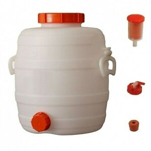 Selbstbrauen Aggressiv Speidel Mostfass 12 Liter ❀ Mit 2 Deckeln ❀ Lagerfass ❀ Gärbehälter ❀ Maischen Feinschmecker