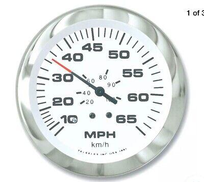"""65510P Sierra Marine Lido Series Gauge 3/"""" Speedometer Kit 0-65 MPH"""